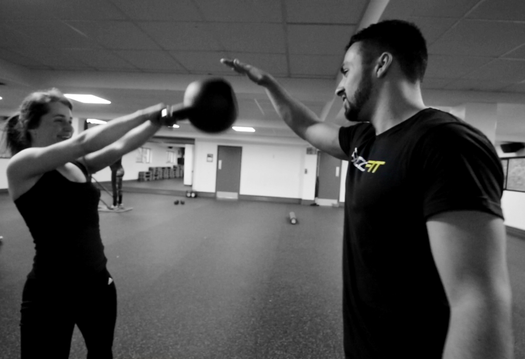 Coach Rob in a personal training session with a client