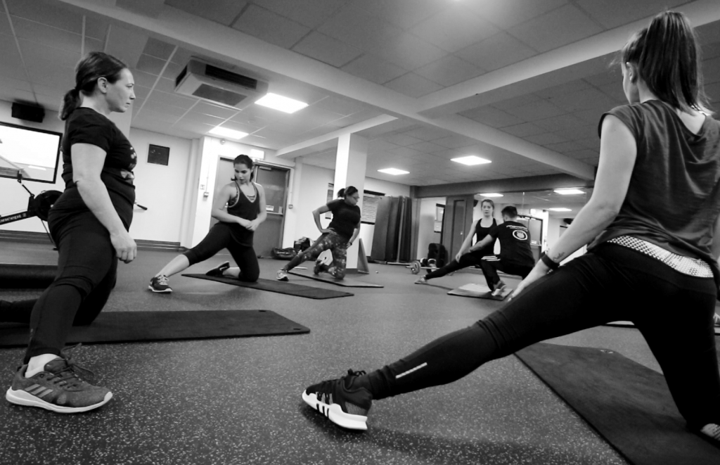 A picture of some of protofit's members in a small group personal training session