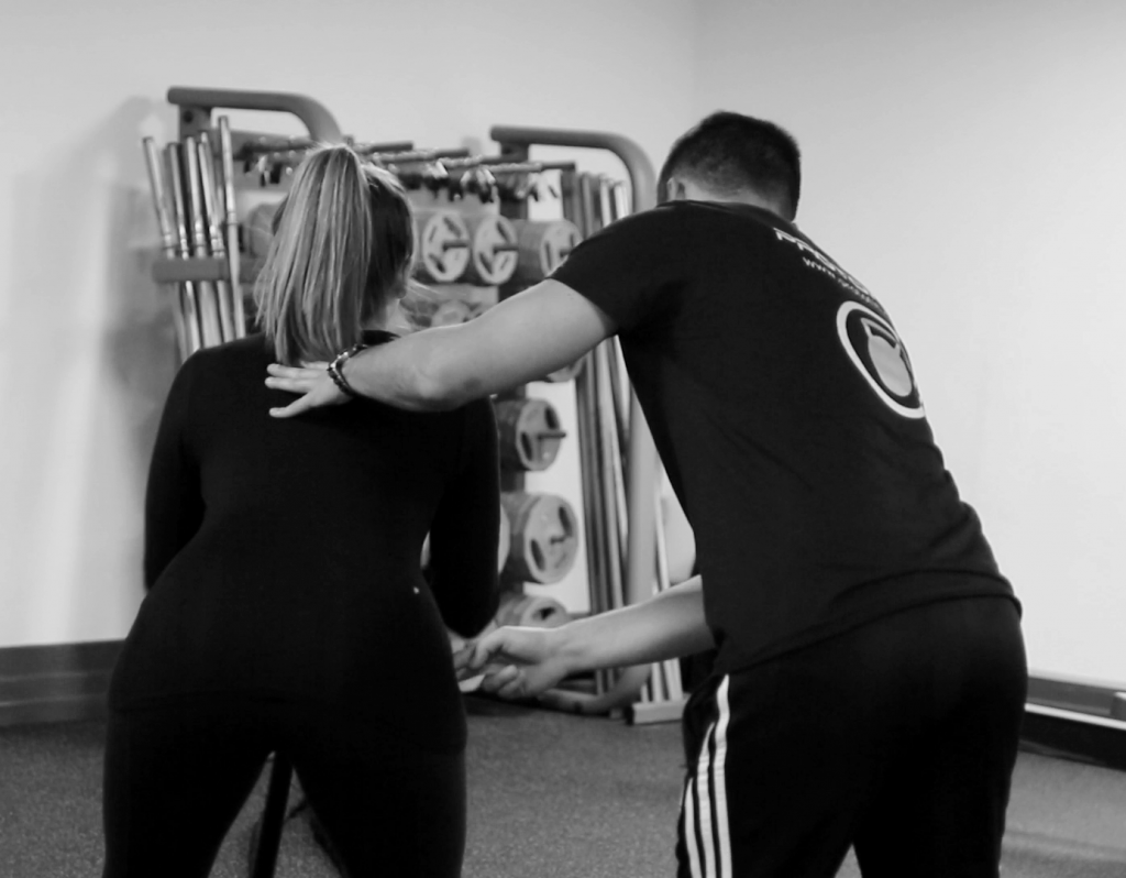 Client yas in a personal training Southgate session with a personal trainer